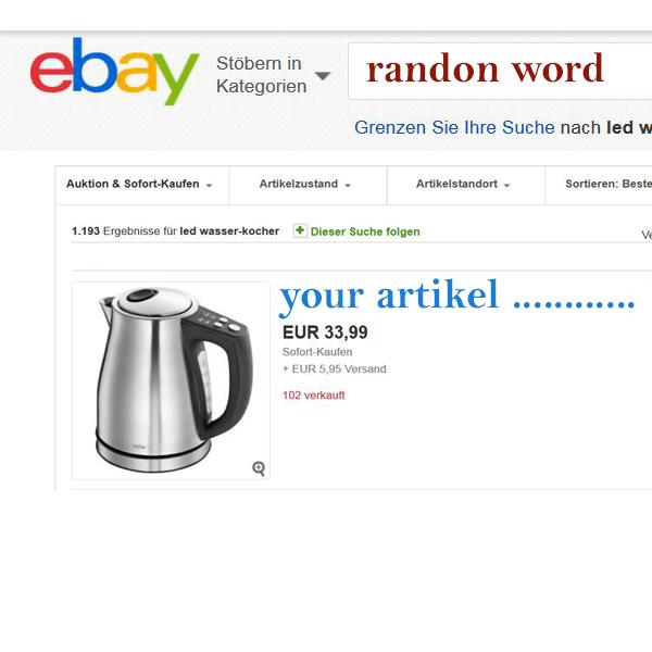 listandsell ebay suchmaschinenoptimierung