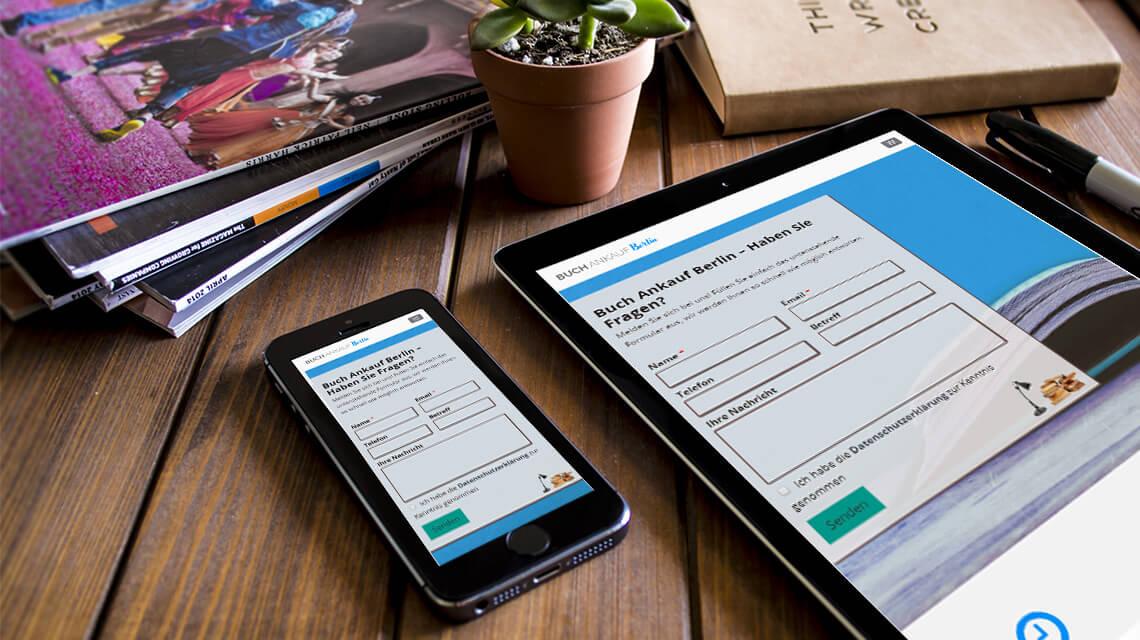 SEO & wordpress webdesign von Buchankauf Berlin